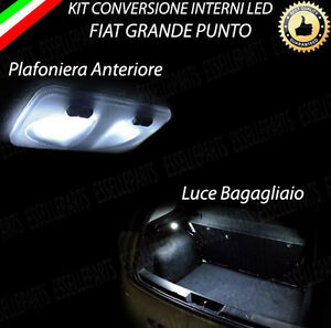 kit led interni fiat grande punto plafoniera anteriore. Black Bedroom Furniture Sets. Home Design Ideas