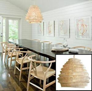 """NEW 1 LIGHT BAMBOO CHANDELIER L242 172576274 LIGHTING ROOST FIXTURE CUMULUS TALL WHITEWASH 24""""Hx28""""W"""