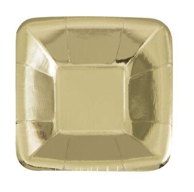 APPETIZER PLATES (8) ~ Birthday Wedding Party Supplies Cake (Metallic Gold Party Supplies)