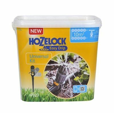 Hozelock Easy Drip Universal Watering Kit for Beds and Borders, Black, 40 x 25 x