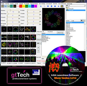 IShow Version 2.31d ILDA Lasershow Software inkl. USB ILDA Interface und Kabel