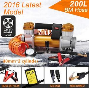 Car Air Compressor 12V 200L/MIN 4x4 4WD Car Tyres Bike Deflator Inflator Portabl