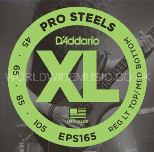 D'Addario EPS165 Pro Steel Custom Light Long Scale Bass Guitar Strings 045 - 105