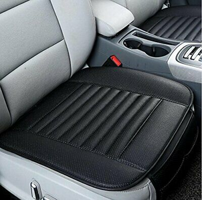 One Piece Premium Bamboo Charcoal Car Seat Cover Cushion Pillow PU Leather