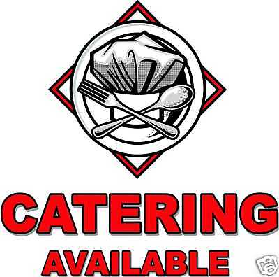 Catering Cafe Restaurant Concession Food Truck Vinyl Decal 24