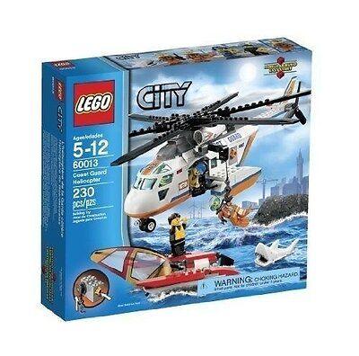 60013 COAST GUARD HELICOPTER lego NEW city town SEALED shark legos set