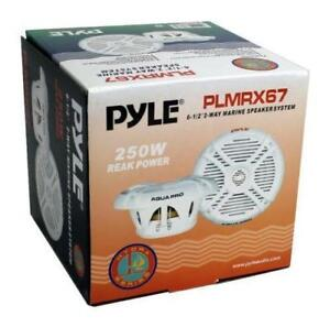 Pyle Marine Audio (PLMRX67) HYDRA 250 Watts 6.5 2 Way Marine Speakers (Pair)