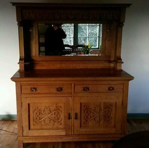 Antique Buffet With Mirror Ebay