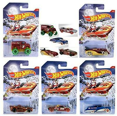 Hot Wheels 2016 Collection Holiday Diecast Hot Rods Complete Set of all 5