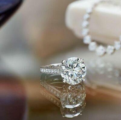 Genuine 1.25 Ct Round Cut Diamond Engagement Ring I,VS2 GIA White 14K Gold 1