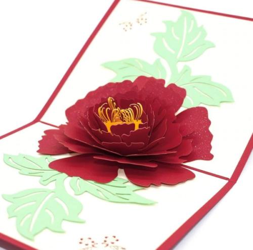 3D Flower Pop Up Birthday Mothers Day Get Well Card Wedding Anniversar UK Seller