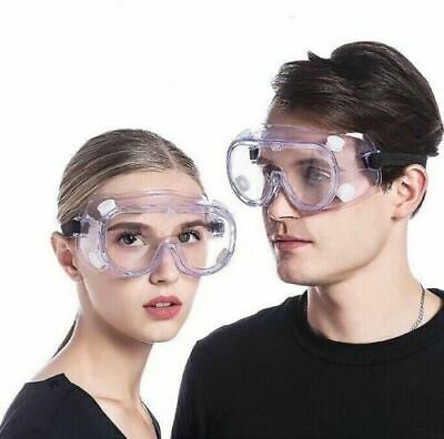 Safety Goggles Over Glasses Lab Work Eye Protective Eyewear Clear Lens Us -2pcs
