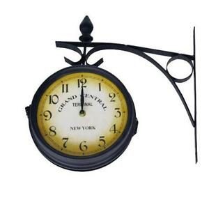 London Kensington Train Station Double Sided Wall Clock