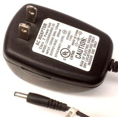 - CSD0900400U-33 AC DC Power Supply Adapter Charger Output 9V 400mA 9 Volt