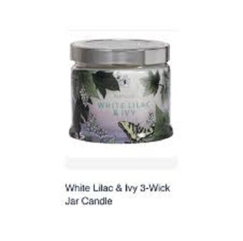 Partylite WHITE LILAC & IVY SIGNATURE 3-wick JAR CANDLE  BRAND NEW