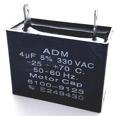 Motor Run Capacitor 4uF 330V AC 5% Polyester Film ADM330A405J (1 piece)