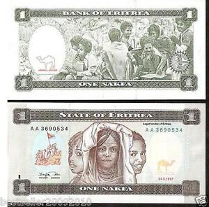Eritrea 1 Nakfa UNC Beautiful Note # 228