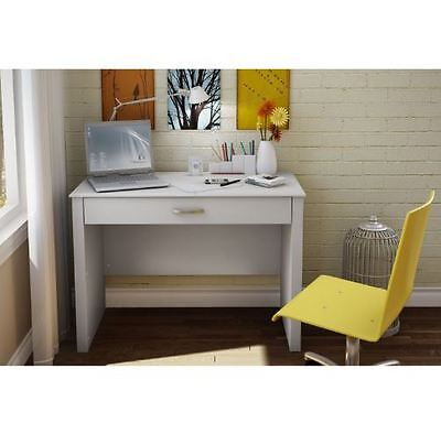 - College Dorm Bedroom Home Office Writing Laptop Computer Desk Contemporary White