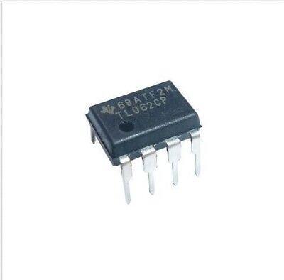 5pcs Texas Instruments Tl062ip Tl062 Low Noise Jfet Dual Op-amp Dip-8 New Ic