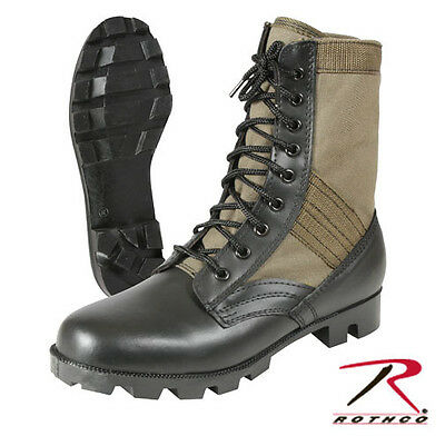 Rothco 5080 GREEN Olive Drab Leather Military Jungle Boots all sizes 1 to 15  Jungle Boot Olive Drab