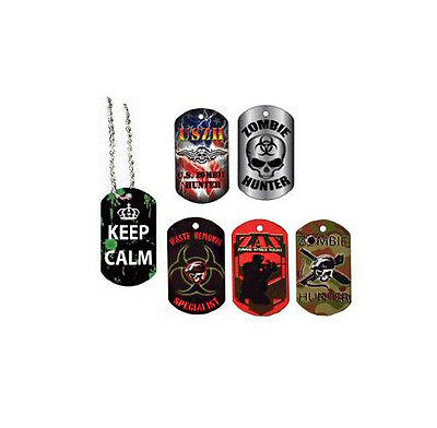 18 Zombie Flicker Dog Tags -  Party Favors](Zombie Party Favors)