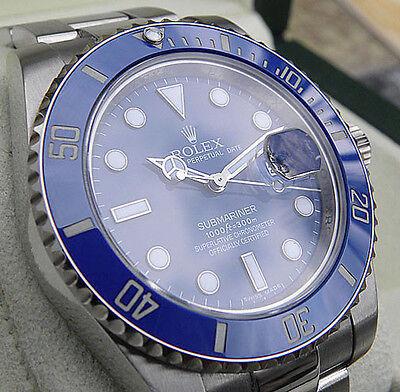 Rolex Submariner 116619 White Gold Blue Ceramic Bezel 40mm Blue Dial Oyster