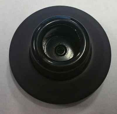 "Oil-Rubbed Bronze 2 1/4"" Concave Wall Stop COLOR MATCHED BUMPER!"