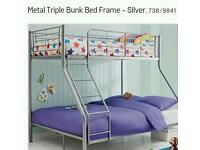 Black metal bunk beds