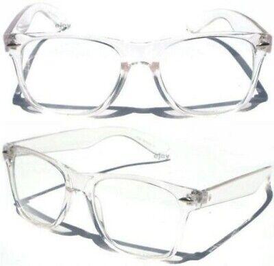 CLEAR LENS TRANSPARENT FRAME Classic Style RETRO Horn Rim EYE GLASSES (Rim Horn Glasses)