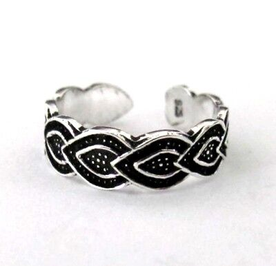 Sterling Silver Heart on Heart size small toe ring