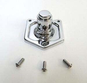 CHROME SOLENOID COVER PUSH BUTTON STARTER SWITCH FOR HARLEY BIG TWINS 91-2017