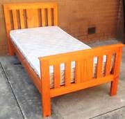 nice timber single bed frame with mattress Glen Waverley Monash Area Preview
