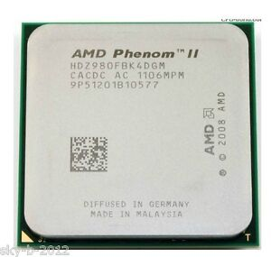 AMD Phenom II X4 980 3.7G Quad Core 6MB AM2+ AM3 Black Edition HDZ980FBK4DGM