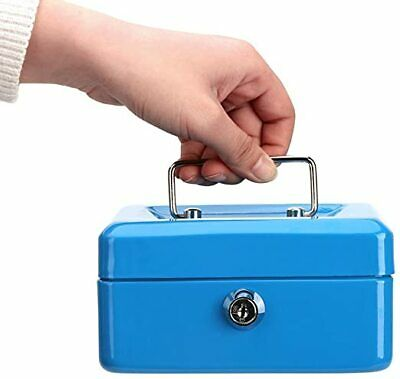 Cash Box With Money Tray And Combination Lock Large Money Box 5 Compartments