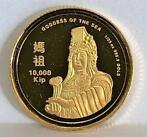 Laos. 10,000 Kip 2006 Mazu, the Sea Goddess - 1/25 Oz