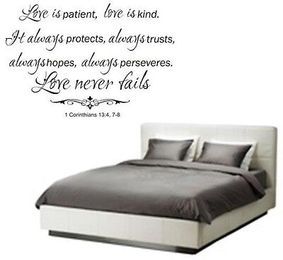 Love Is Patient Kind Words Decor Wall Decal Lettering Sticky Quote Sticker 24