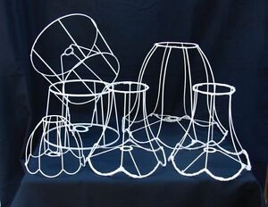 LAMPSHADE FRAMES FOR RECOVERING – RETRO - SIX  (6) FRAMES Newtown Inner Sydney Preview