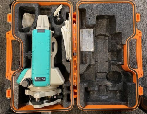 Nikon NE 100 Electronic Digital Theodolite Construction with Case