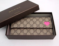 BRAND NEW Women's Authentic HOT PINK RARE Gucci Bi-fold Wallet