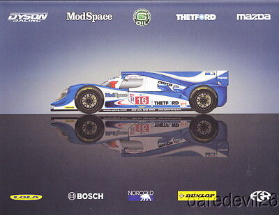 2012 Dyson Racing Mazda Lola LMP1 12 Hours of Sebring ALMS postcard