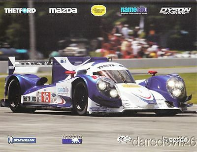 2013 Dyson Racing Mazda Lola P1 Circuit of the Americas COTA ALMS postcard