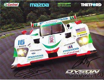 2010 Dyson Racing Mazda Lola LMP2 signed Mid-Ohio ALMS postcard