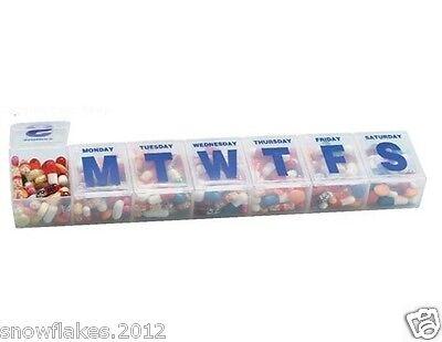 7 day tablet pill box holder weekly medicine storage organizer container case