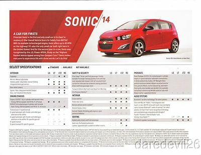 2014 Chevy Sonic Info Card