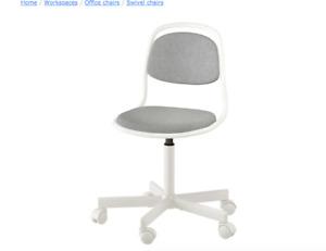 Child's desk chair, white, Vissle light gray