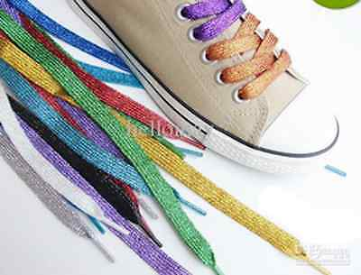 Dance Party Supplies (Metallic Sparkly Shoelaces Dance Team Dress Up Party Favor Gold Silver)