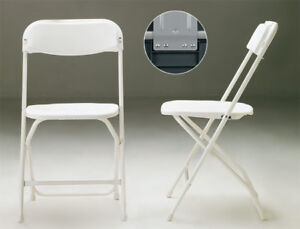 Brand New White Plastic Folding Chairs for Sale!!!!