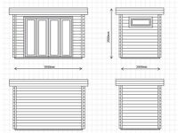 BRAND NEW GARDEN OFFICE / STUDIO 2m x 3.5m ready for IMMEDIATE collection - 25% off RRP