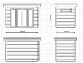BRAND NEW GARDEN OFFICE / STUDIO 2m x 3.5m ready for IMMEDIATE collection - 20% off RRP