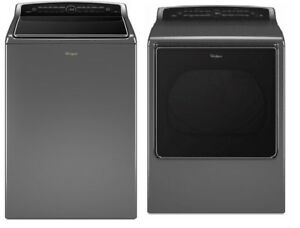Whirlpool Top-Load Washer and Dryer- Chrome Shadow